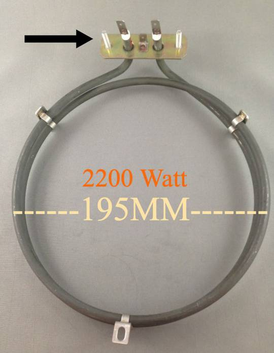 Baumatic Oven Fan Element Heater BK2850SS, BK2460SS, BK3000SS,