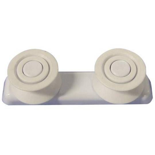 CLASSIQUE DISHWASHER UPPER BASKET RAIL ROLLER SUPPORT WHITE HOM001, KFDW1SS, V SHAPE