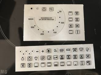 Oven Control panel Decal Sticker Witting label  2,