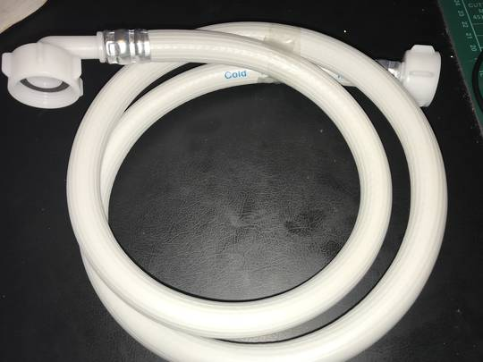 Haier Machine And Dishwasher Inlet Hose 1.2 Meter Long cold only, with washer , COLD ONLY
