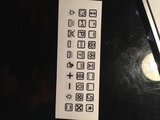 oven control panel decal sticker SYMBOLS label 3,
