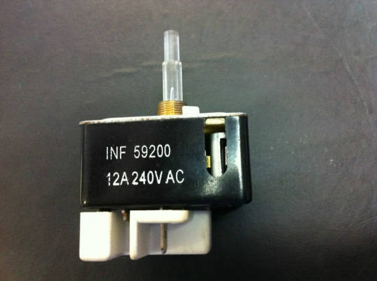 CHEF Cooktop Regulator switch INF 59200, 31091, WITH NEON LIGHT IN SHAFT