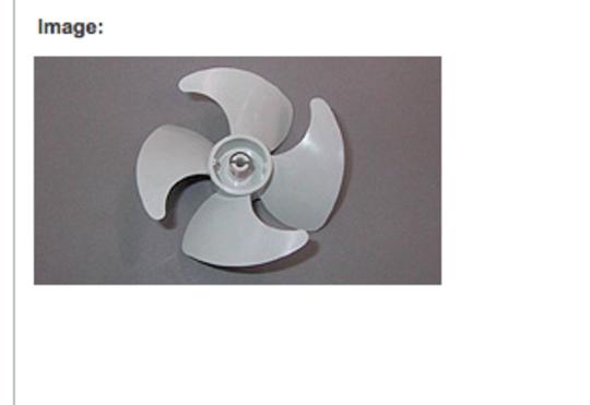 Fisher Paykel Fridge Freezer Fan Blade N249, E249, E169, N169, N395, N400, N325, RF240, E240, E249, RF169, RF249,