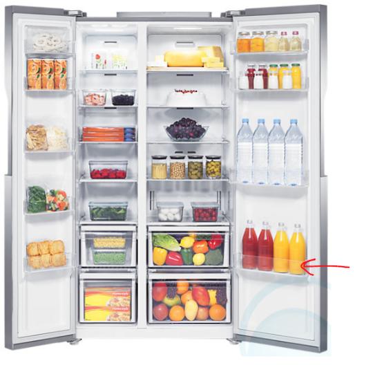 Samsung fridge BOTTLE GUARD Shelf Tray SRS583NLS,