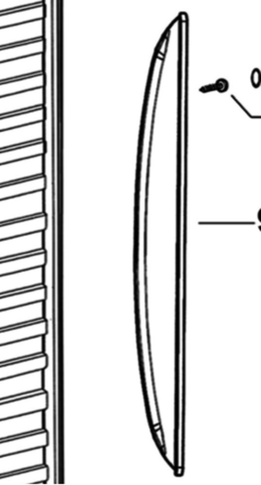 Elba fisher paykel fridge door Handle Large Curve Plastic LEFT OR RIGHT E373, C373, C450, E308, E388, E450,