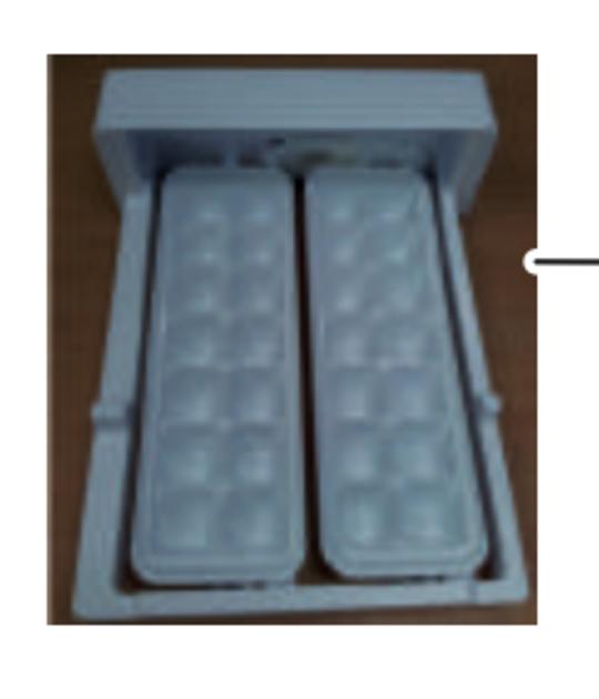samsung fridge ice maker tray Assy SRL449EW, srl250els, srl450els,
