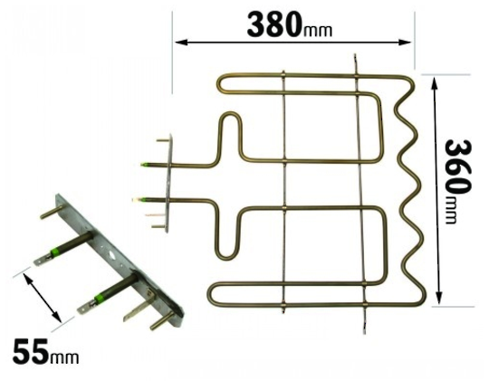 Whirlpool  Oven top upper grill element akz209 ,