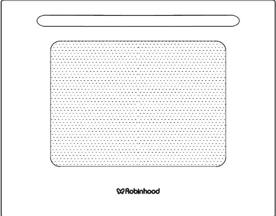 Robinhood Oven Complete door including handle OBP6010T56G, 115315.SP,