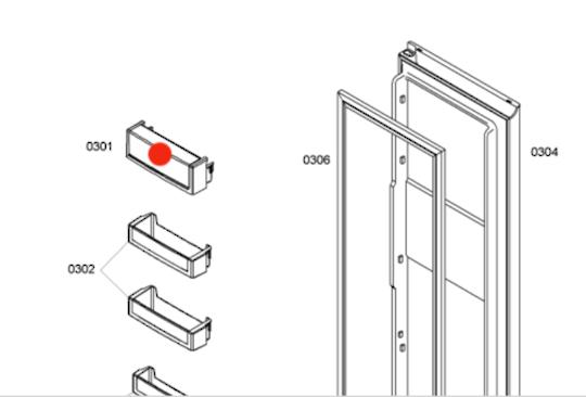 Bosch fridge door shelf 1st from top Kan58a40AU/09, Design 2011,Refrigerator,