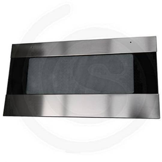 ILVE OVEN 900 STAINLESS STEEL FRONT DOOR GLASS 788MM X 410MM DOUBLED GLAZED OVEN