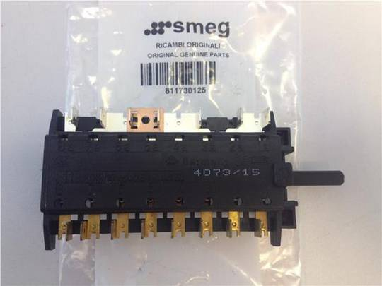 SMEG OVEN SELECTOR SWITCH MULTU FUNCTION SWITCH SA10XMF,  SA370EB,  SA380X, SA380X1, SA380X5 4073/15, **0125