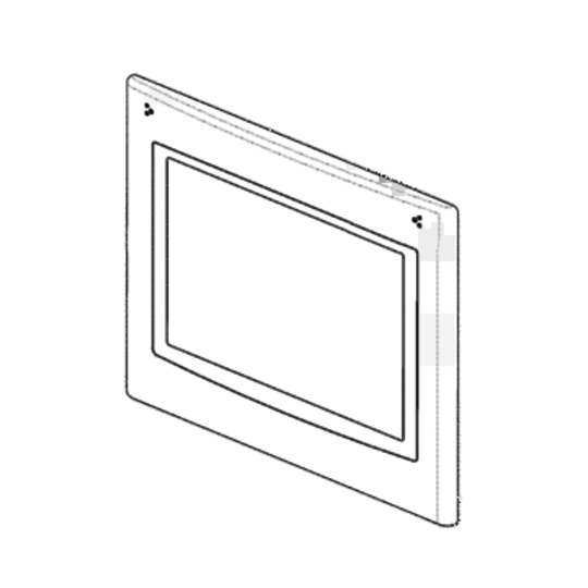 Westinghouse Oven door outer glass external Glass 4u613w*46,