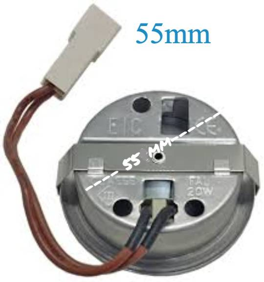 Smeg Range Hood Halogen Lamp Assembly P580, P780,