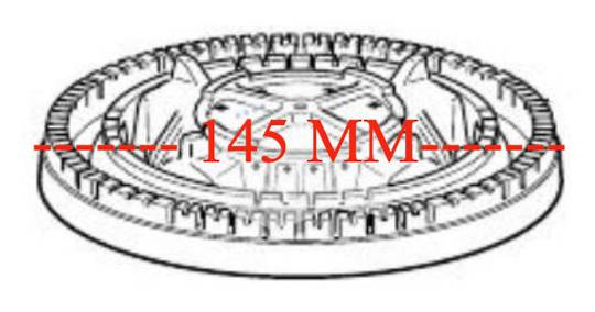 DELONGHI Cooktop Wok Burner Crown Base Skirt Alloy D61GII, D906GWF, DEF905GW1, DEF608GW,