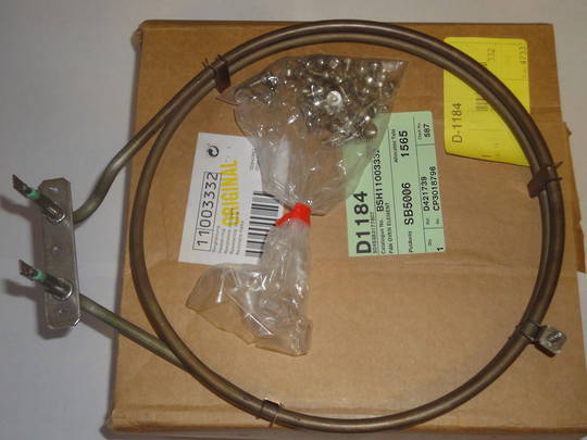 BOSCH OVEN FAN FORCED ELEMENT HBG655HS1A, HBG634BS1B,