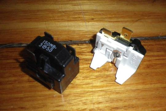 FISHER PAYKEL FRIDGE COMPRESSOR RELAY 150MB, 3M5D,