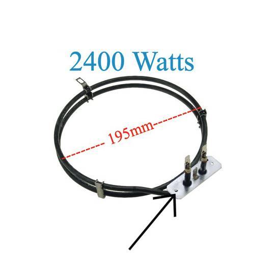 Universal OVEN FAN FORCED ELEMENT 2400W SNZ708X, SNZ90MFX, 2400 Watts Witout Studs,