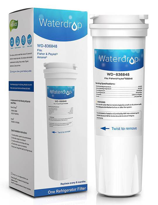 Fisher Paykel Fridge Water Filter  E404BRXFDU, E522BRXFDU, E522BRXU, E402BRXFDU, E522BRXFDU,E522BRXU, RF540ADUX, E522BLXFDU, E