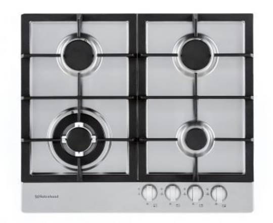 Robinhood Cooktop HGA604FKSS Four burner gas Stainless Steel