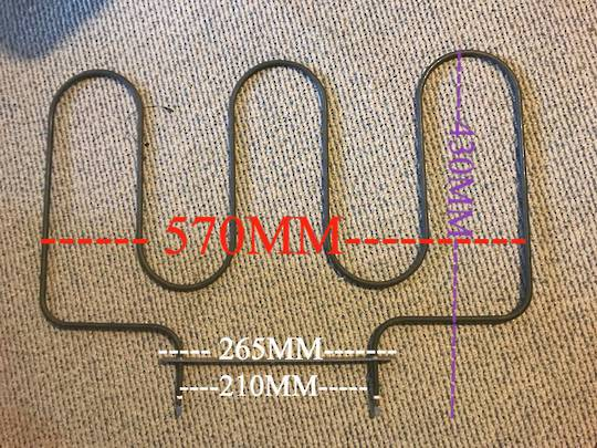 oven lower bake Heating Element 1800W, F96-13, F9613, ONLY ONE LEFT