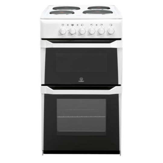 Indesit Freestanding 50cm Twin Cavity Electric Cooker with Electric Ego Hob  IT50EW