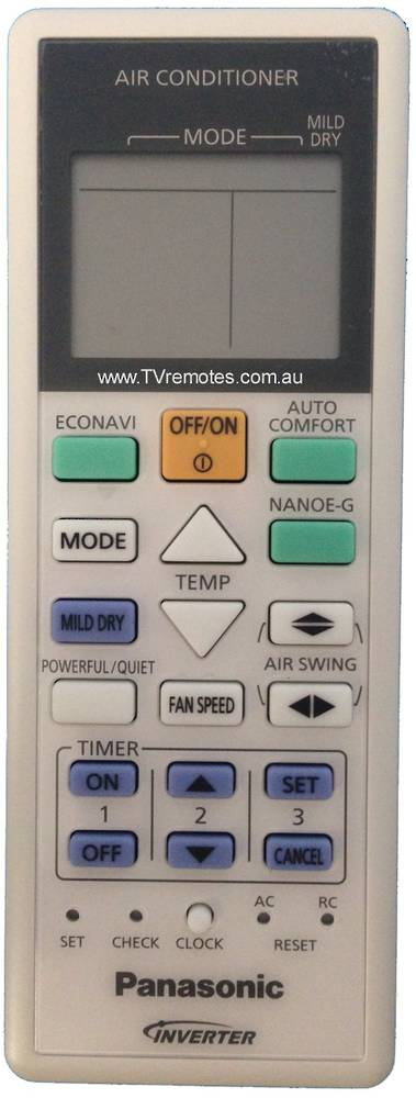 Panasonic Air condition and Heat Pump Remoter Controller CU-E9NKR,