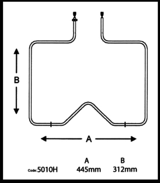 FISHER  PAYKEL OVEN BAKE ELEMENT 6106, 640, 641, 642, 643, 651, 653, 652, 654, 655, 656, 657, 658, 661, 662, 663, 664, WO600E, W