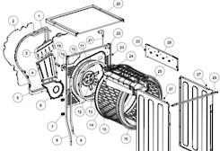 fisher paykel Dryer Heater Element DE8060p1, DE8060p2, DC8060P1, and Haier HDC80E1