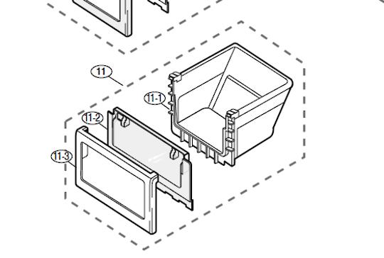Samsung Fridge Lowest Vege Drawer SRS583NLS, RS552NRUASLSA, RS552NRUAWWSA,  RS554NRUASLSA, RS51K5460SLSA,