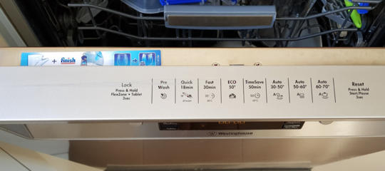 WESTINGHOUSE DISHWASHER Front panel Trim WSF67381S,