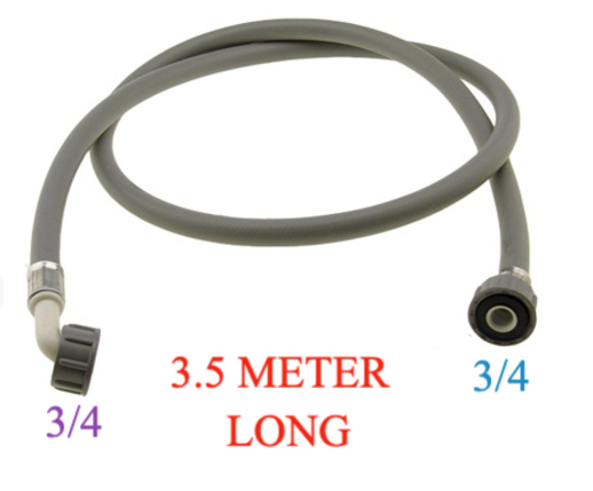 Washing Machine And Dishwasher Inlet Hose 3.5 Meter Long cold only, with washer , COLD ONLY