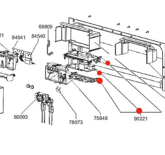 SMEG DISHWASHER POWER CONTROLLER BOARD PCB TIMER DWAU149XN, DWAU149XO,