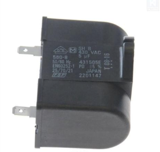 WHIRLPOOL FRIDGE AND OTHER APPLIANCE  capacitor 5uf 430v, 2201147, 2254217,
