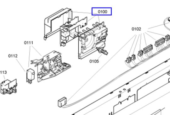 Bosch Dishwasher CONTROLLER BOARD PCB  SGS53E02AU/77 ,