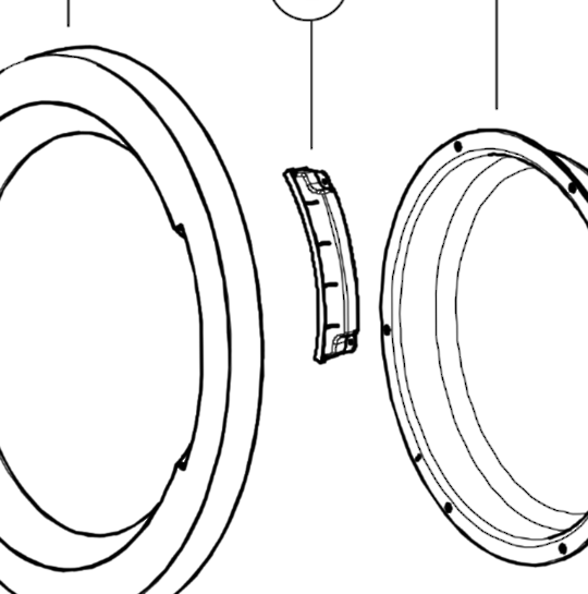 Haier Cloth Dryer door HANDLE HDV40A1 HDV60E1, HDV50E1, HDV60A1, HDV70E1,