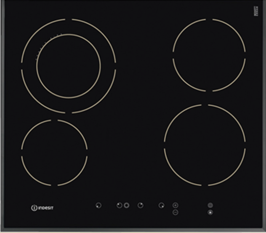Indesit VRA641DB 4 Burner Frameless Touch Control Ceramic Cooktop