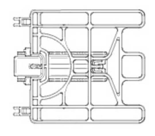 Ariston Indesit Dishwasher Short Flap upper basket lbf5b,
