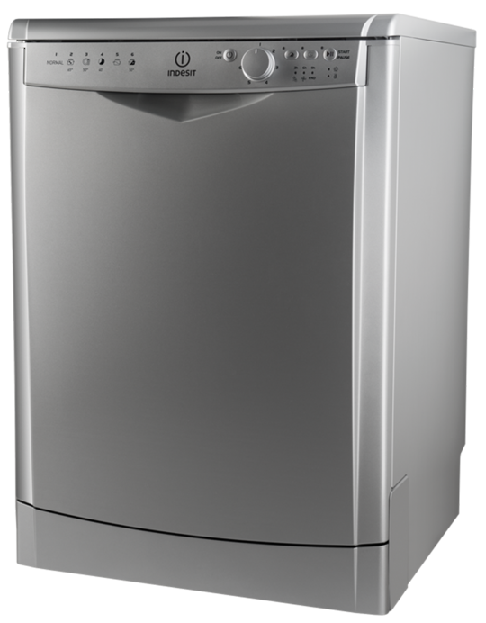 DFG 26T1 A NX AUS Indesit Stainless Steel Freestanding 6 Programme Dishwasher 60cm Wide