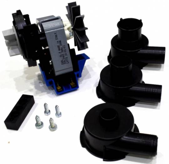 Drain Pump with 3 different size fitting for washing machine,