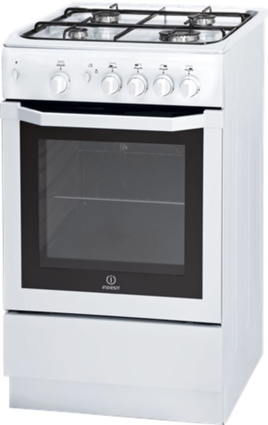 Indesit I5GG1W  White Steel Freestanding 50cm Gas Oven with Gas Cooktop