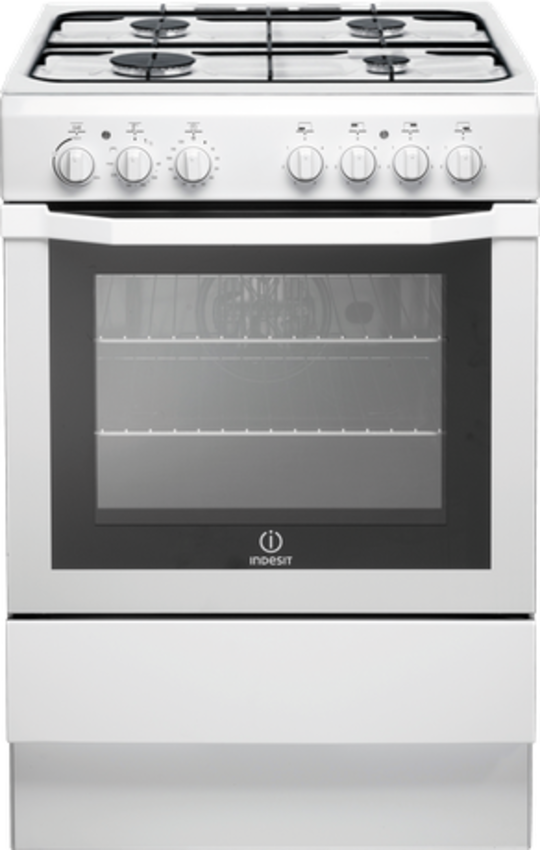 I6GG1(W) Indesit Freestanding 60cm wide Gas oven with Gas Hob