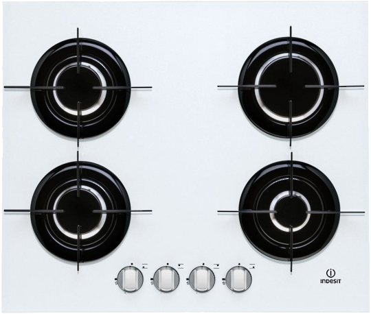 IPG 640 S WH Indesit 600mm 4 Burner Gas Hob