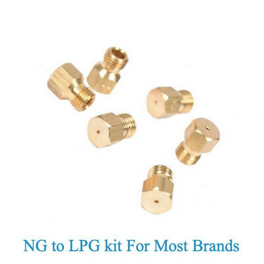 Nozzle gas Jet for natural gas to Lpg Oven Cooktop set for 6  burner pack , you can use for 4 or 5 burner.