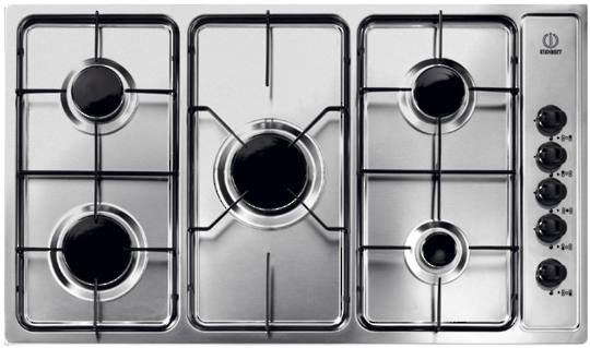PIM 950 AS IX Indesit 5 Burner 85cm Wide Gas Cooktop