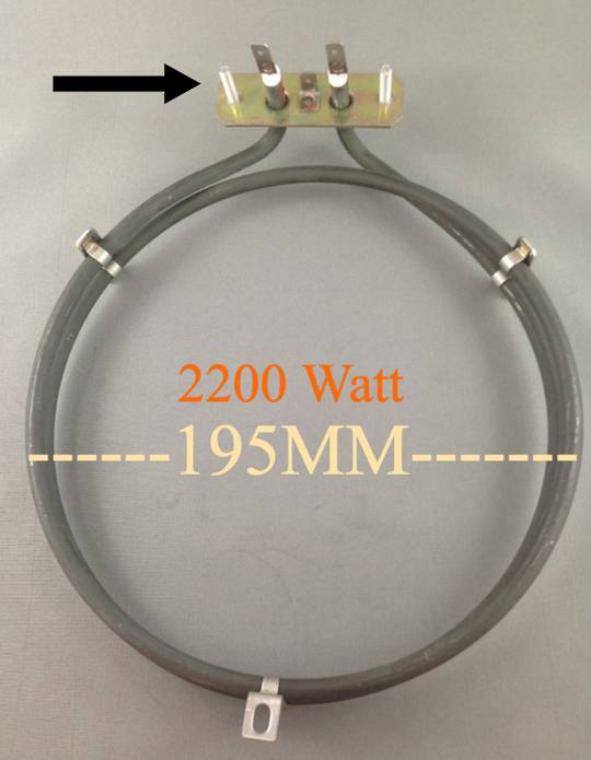 Universal OVEN FAN FORCED ELEMENT SNZ708X, SNZ90MFX, 2200 Watts With Studs,
