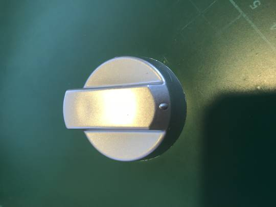 Universal Brand Oven and Cooktop knob Silver Gas Or Electric 1004 ,